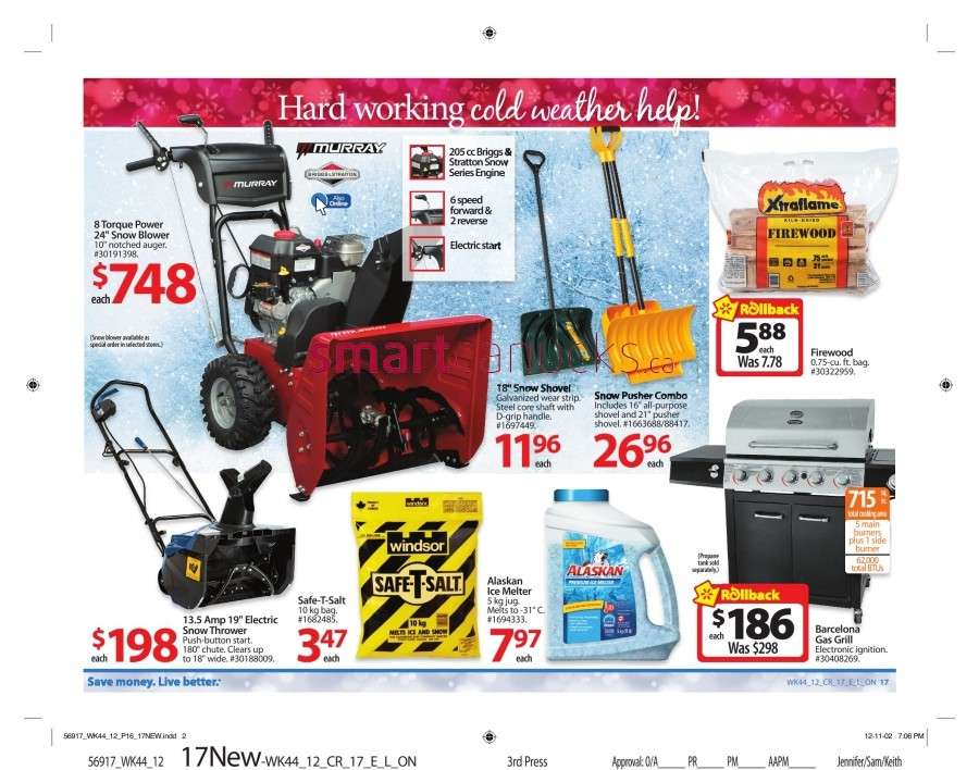 walmarton flyer nov 23 to 2922 Walmart Canada Black Friday Flyer Sales 2012