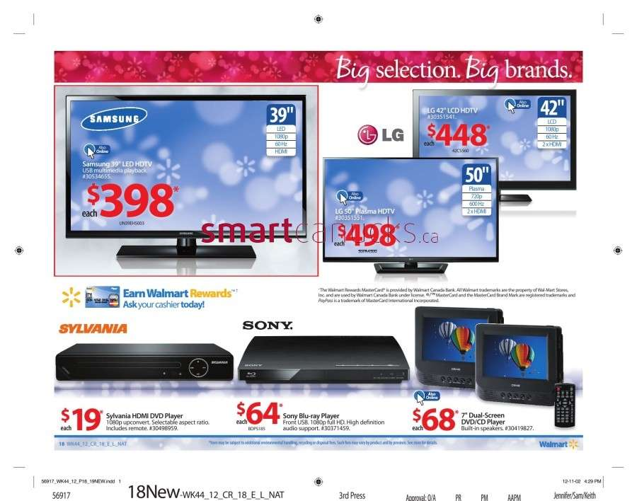 walmarton flyer nov 23 to 2923 Walmart Canada Black Friday Flyer Sales 2012
