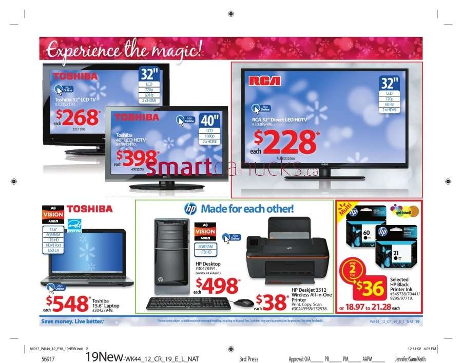 walmarton flyer nov 23 to 2924 Walmart Canada Black Friday Flyer Sales 2012
