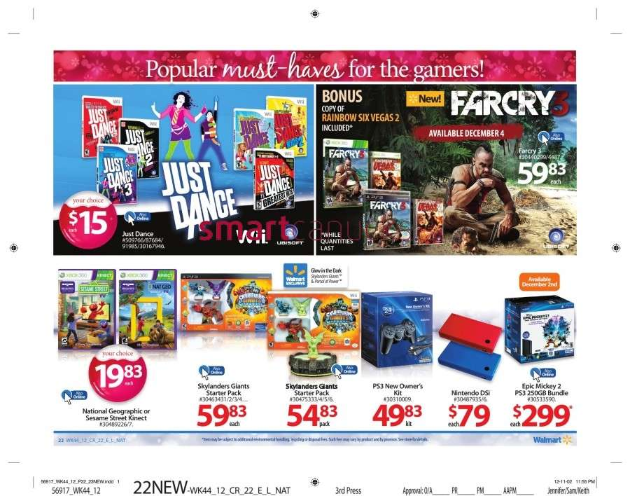walmarton flyer nov 23 to 2927 Walmart Canada Black Friday Flyer Sales 2012