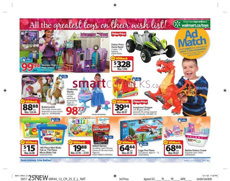 walmarton flyer nov 23 to 2930 Walmart Canada Black Friday Flyer Sales 2012