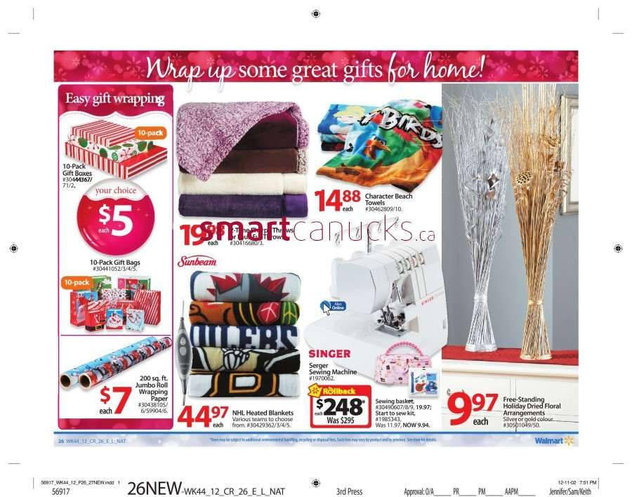 walmarton flyer nov 23 to 2931 Walmart Canada Black Friday Flyer Sales 2012