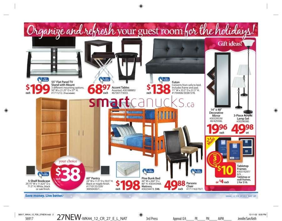 walmarton flyer nov 23 to 2932 Walmart Canada Black Friday Flyer Sales 2012