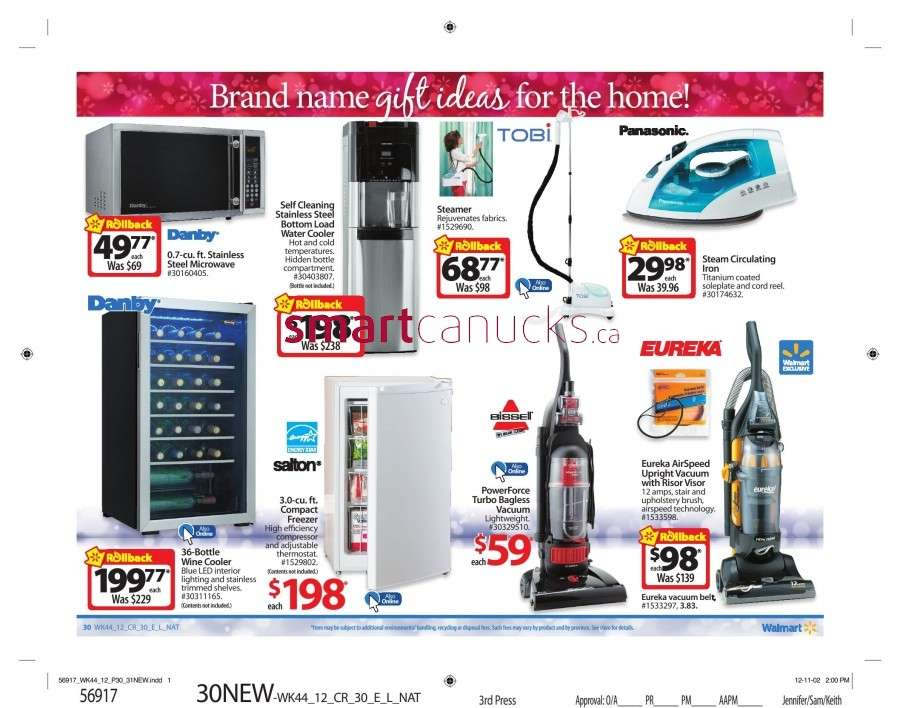 walmarton flyer nov 23 to 2935 Walmart Canada Black Friday Flyer Sales 2012