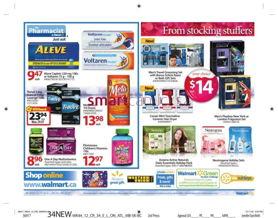 walmarton flyer nov 23 to 2939 Walmart Canada Black Friday Flyer Sales 2012