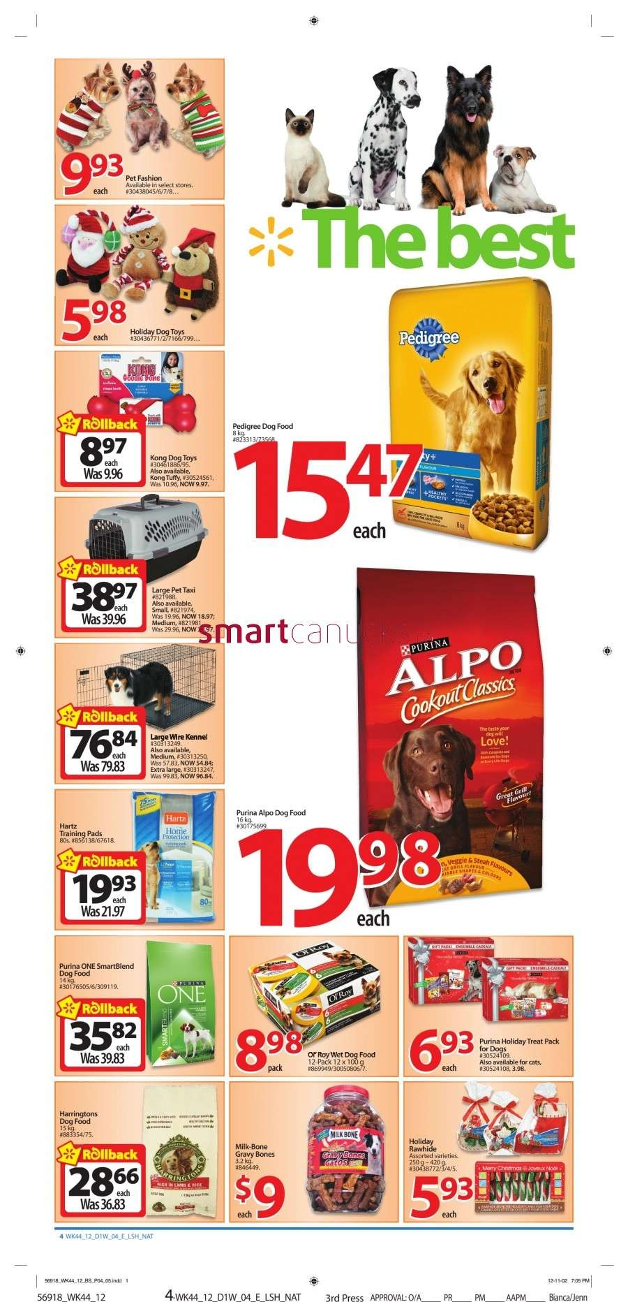 walmarton flyer nov 23 to 294 Walmart Canada Black Friday Flyer Sales 2012