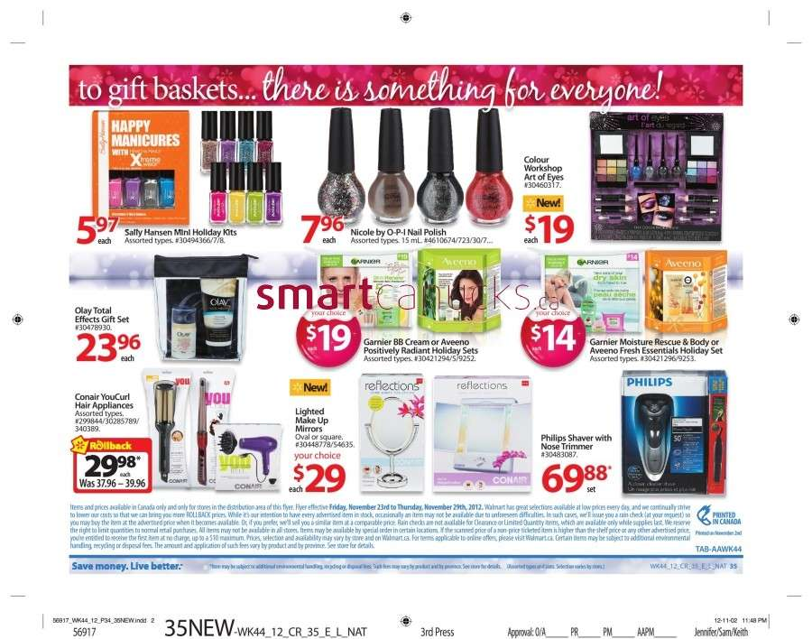walmarton flyer nov 23 to 2940 Walmart Canada Black Friday Flyer Sales 2012