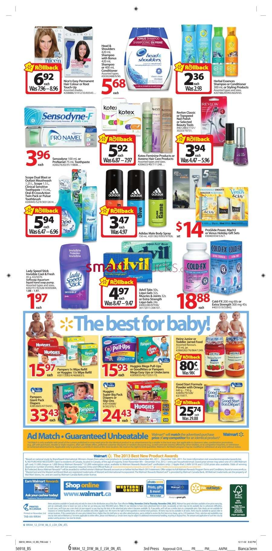 walmarton flyer nov 23 to 296 Walmart Canada Black Friday Flyer Sales 2012