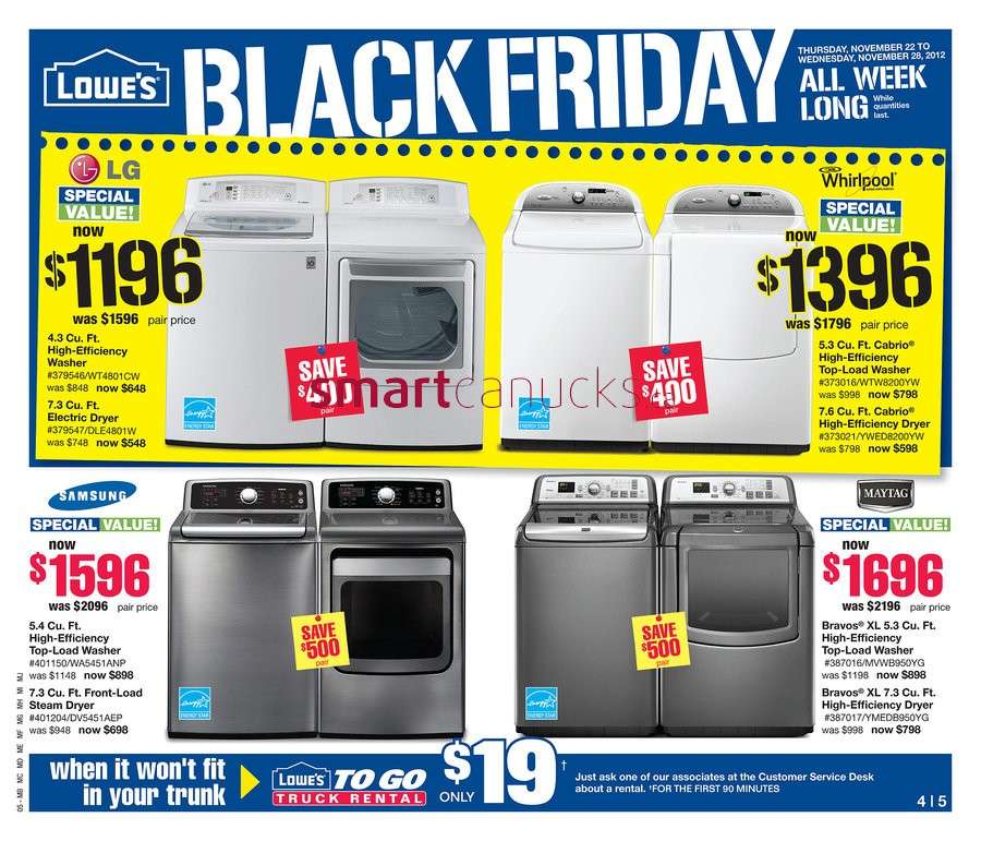 Lowes is currently selling a number of Black Friday deals on its website. The retailer kicked off in-store Black Friday deals on Friday at 6 a.m.