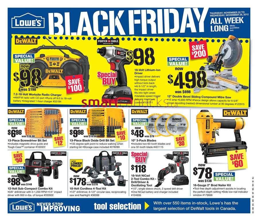 Lowe's Black Friday flyer Nov 22 to 28