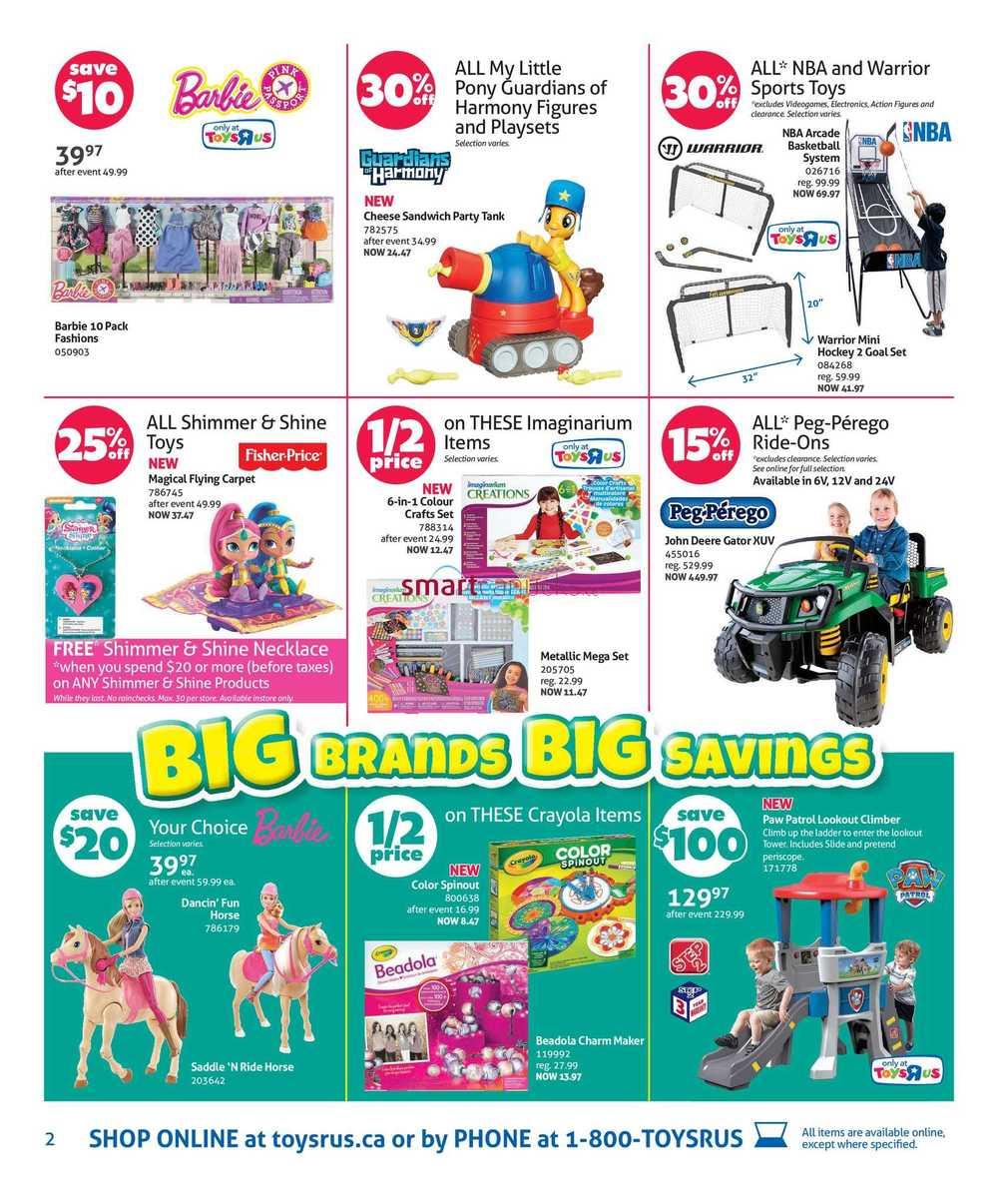 Toys R Us Flyer October 28 to November 3
