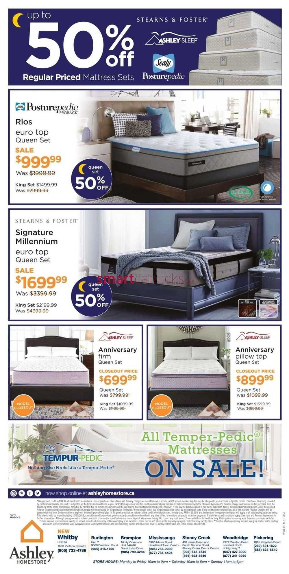 Ashley Homestore On Flyer October 27 To 30