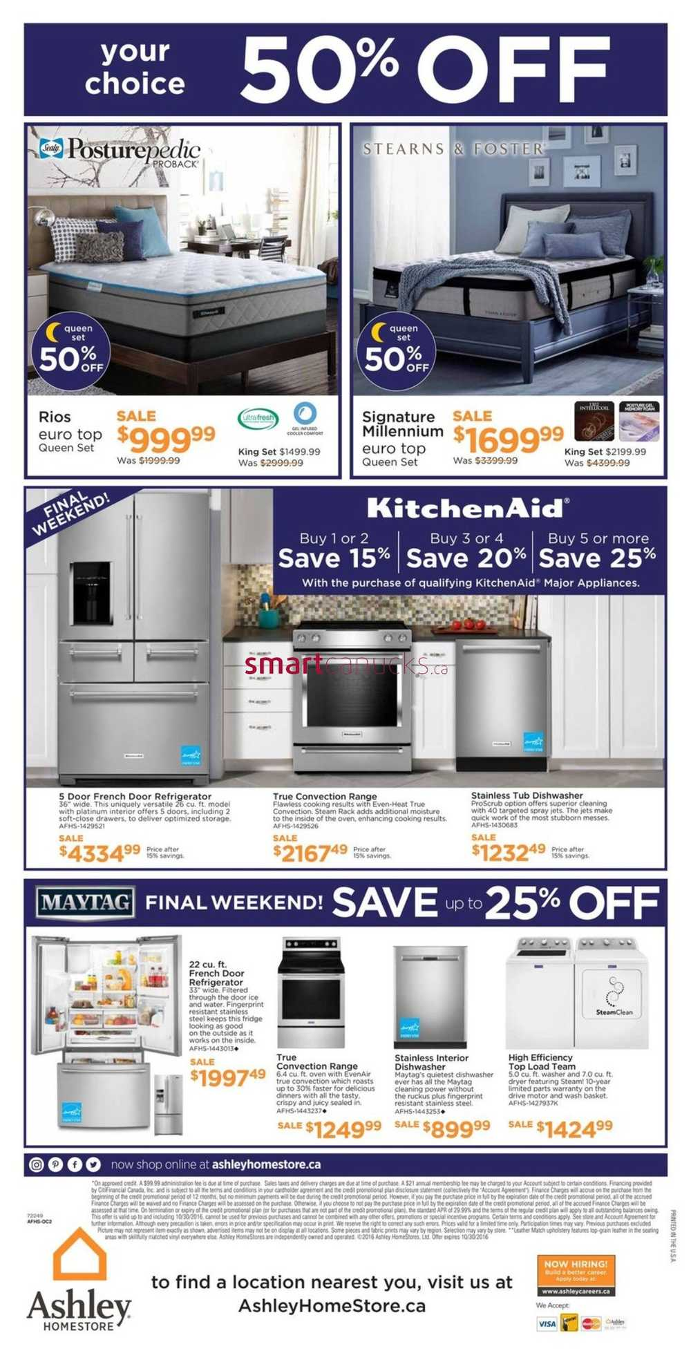 Ashley Homestore West Flyer October 27 To 30