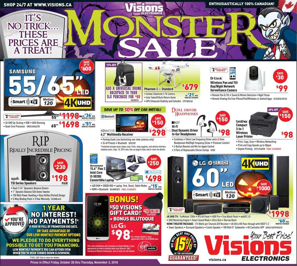 visions electronics flyer october 28 to november 3