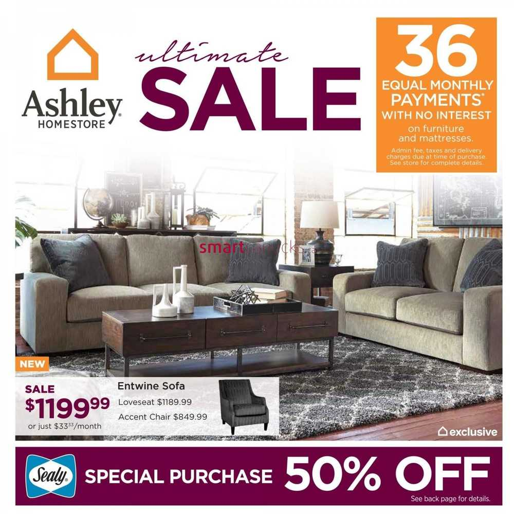 Ashley furniture homestore canada flyers for Ashley furniture homestore canada