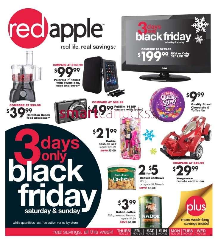 The Bargain Shop Red Apple Flyer Nov 22 To 28