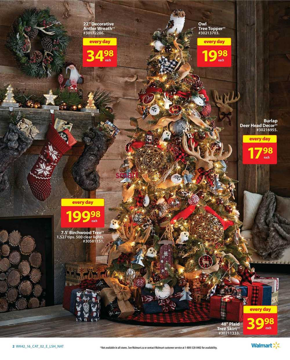 Walmart holiday decor entertaining catalogue november