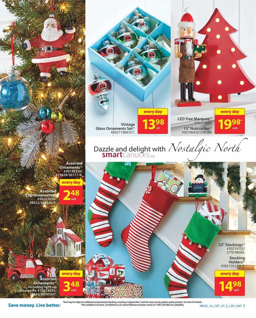 Walmart Decor: Walmart Holiday Decor & Entertaining Catalogue November 10