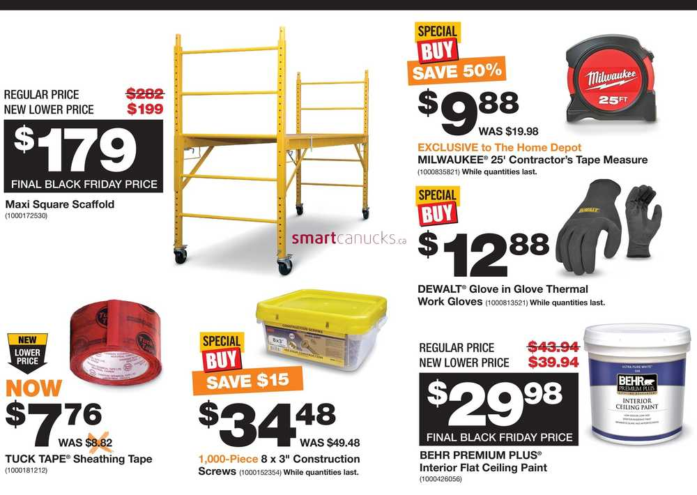 home depot on pro black friday flyer november 16 to 23. Black Bedroom Furniture Sets. Home Design Ideas