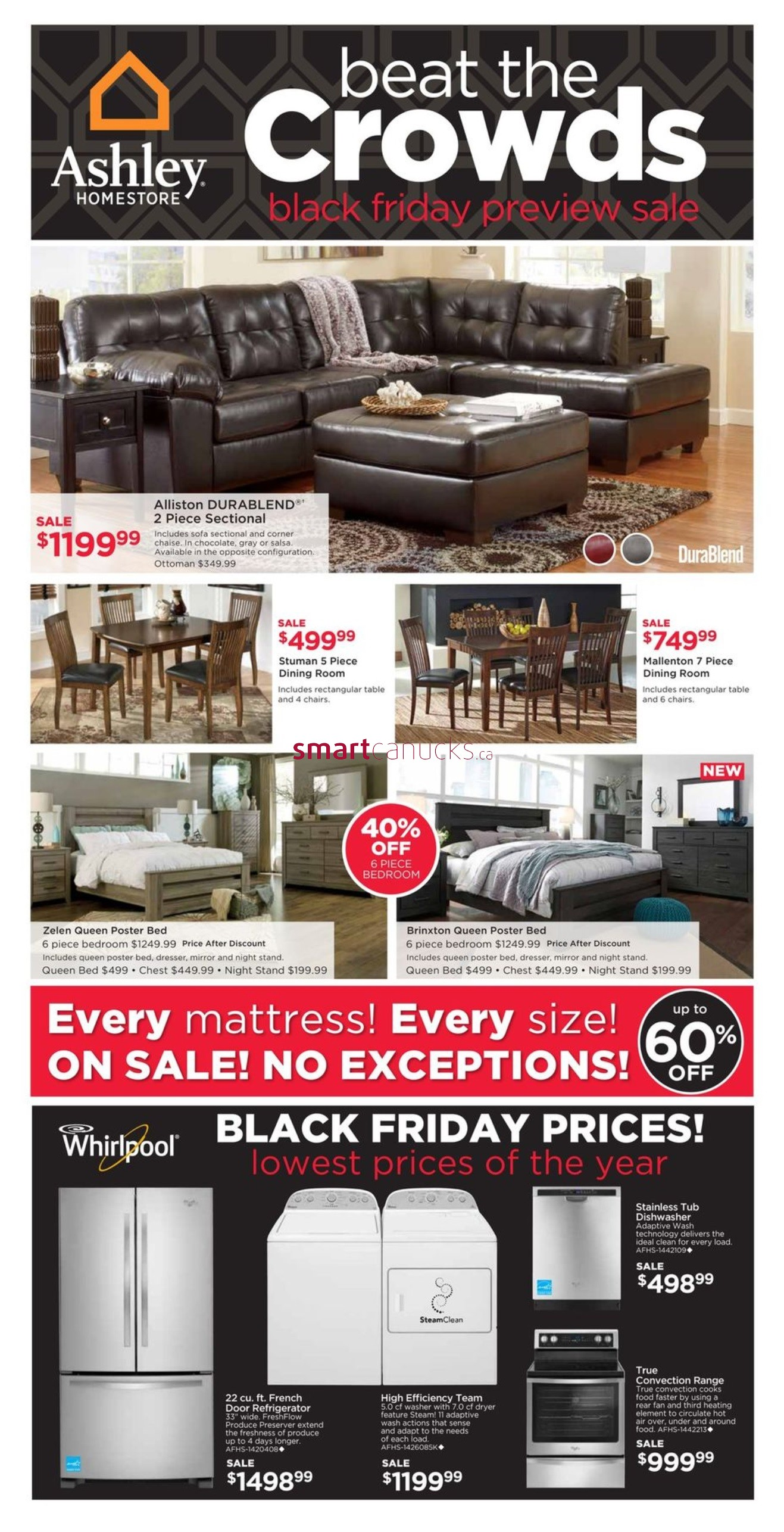 Ashley furniture homestore canada flyers for Ashley homestore canada