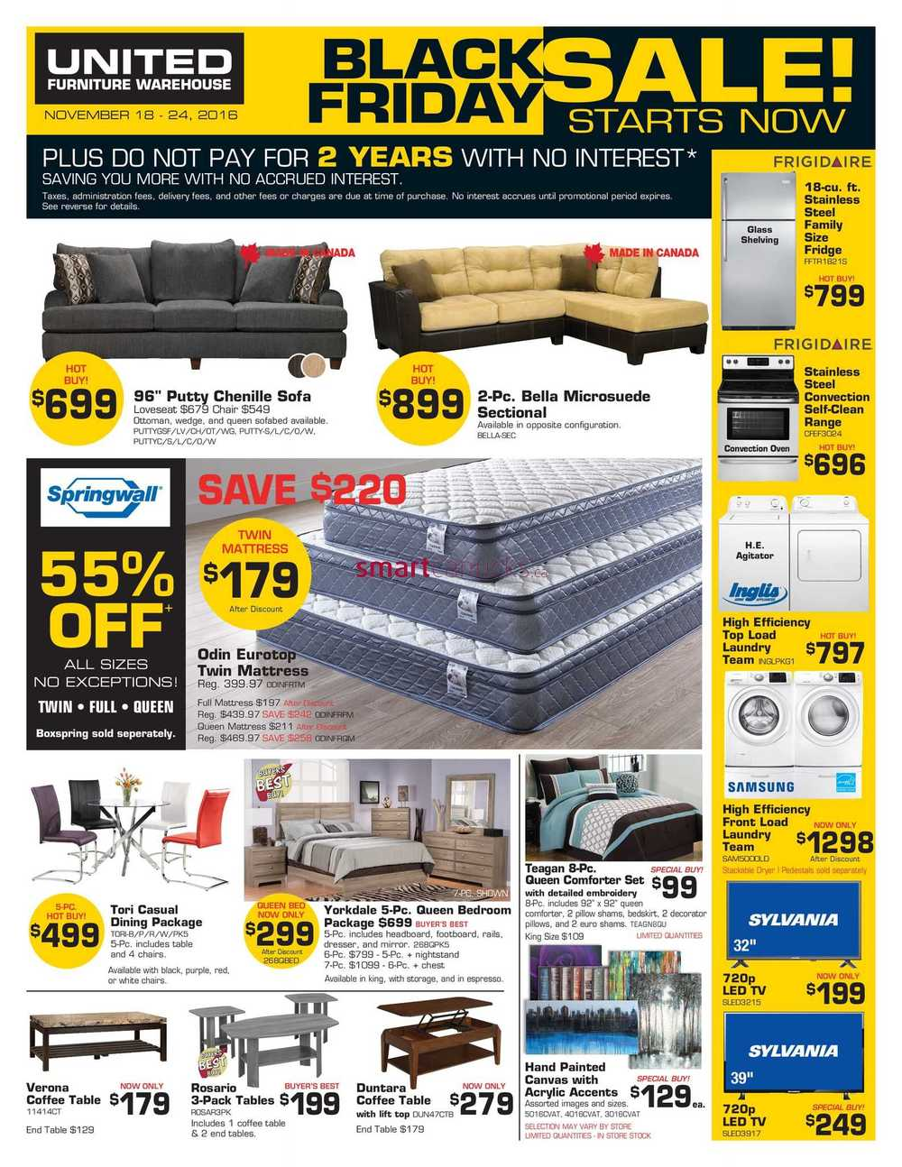 United Furniture Warehouse Pre Black Friday Sale Flyer November 18 To
