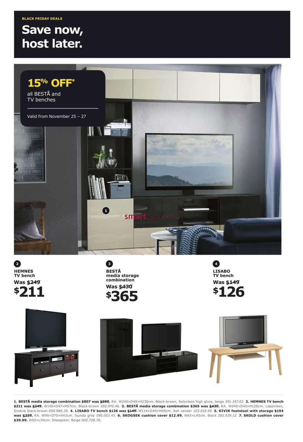 Ikea Black Friday Weekend Flyer November 25 To 27