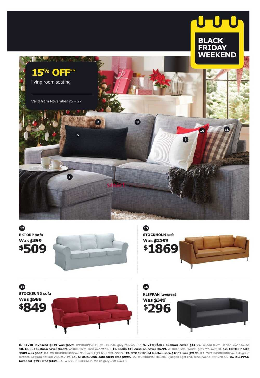 ikea black friday weekend flyer november 25 to 27. Black Bedroom Furniture Sets. Home Design Ideas