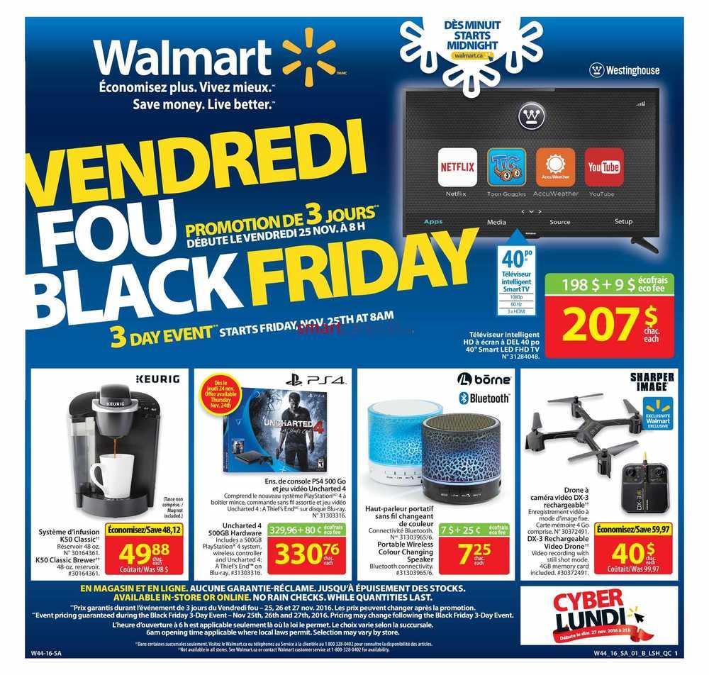 Walmart (QC) Black Friday Flyer November 25 to 27