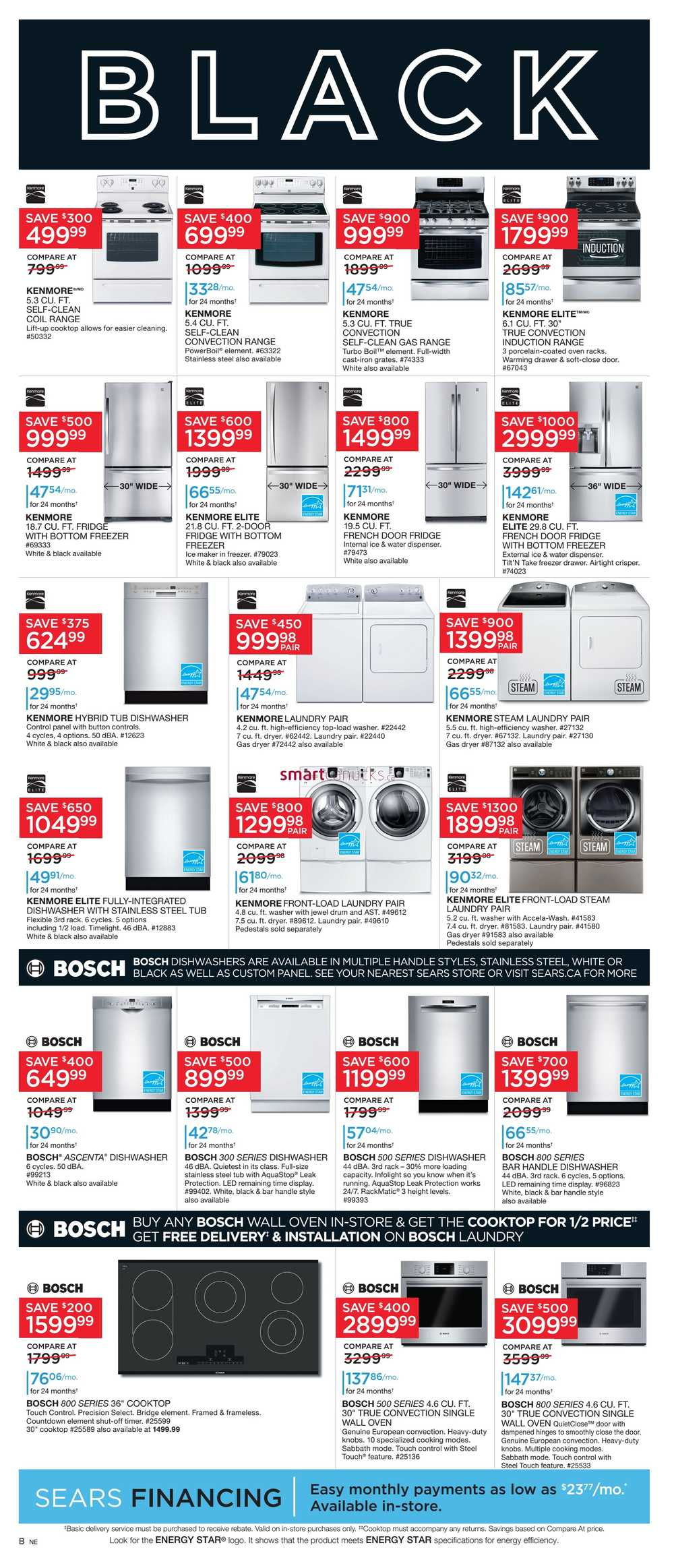 sears black friday flyer november 24 to 28. Black Bedroom Furniture Sets. Home Design Ideas
