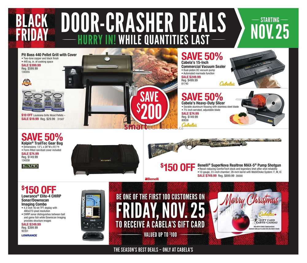 Cabela's has released their Black Friday ad! Be sure to check out all pages to find the best deals of the year on apparel, outdoor gear, camping gear, decor, and more! The sale starts on November 21st, and doors open 5AM on Black Friday/5(40).