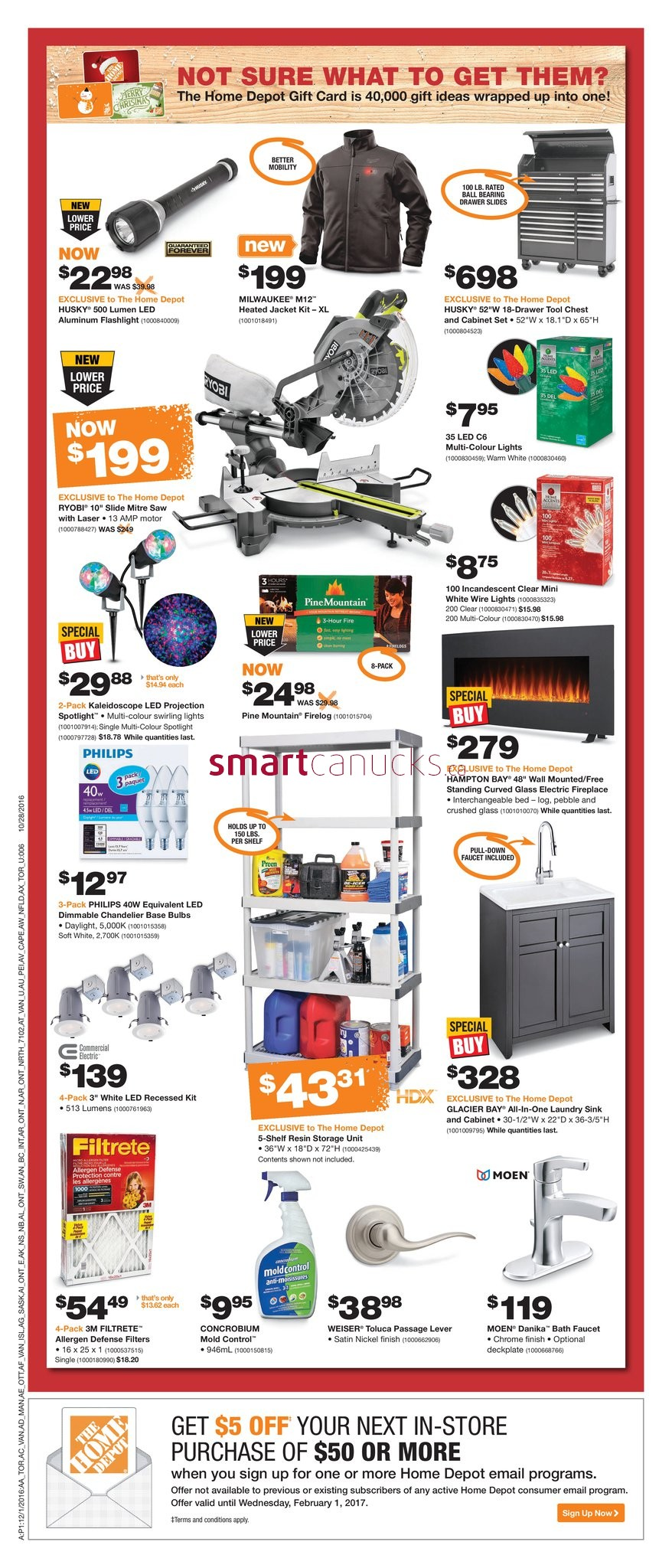Home depot on flyer december 1 to 7 for 7 home depot