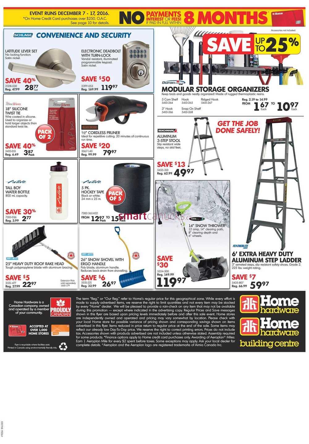 Home Hardware (Atlantic) Flyer December 7 to 17