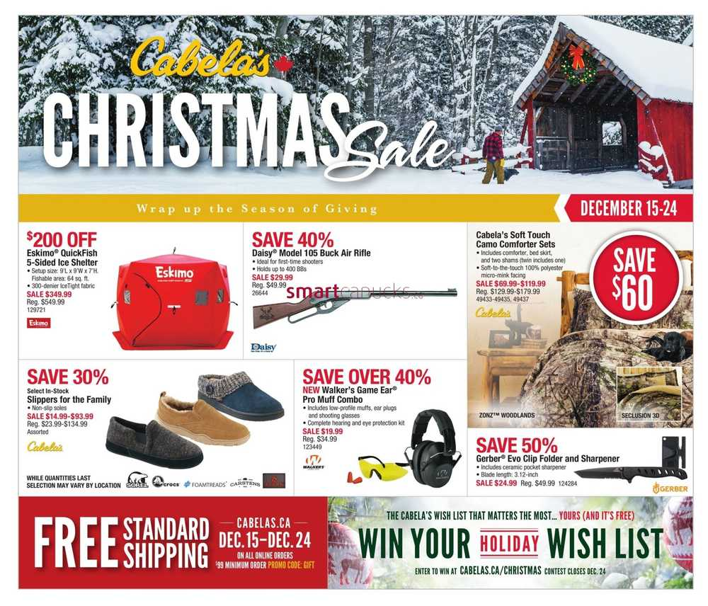 Cabela 39 s canada flyers for Cabela s fishing sale