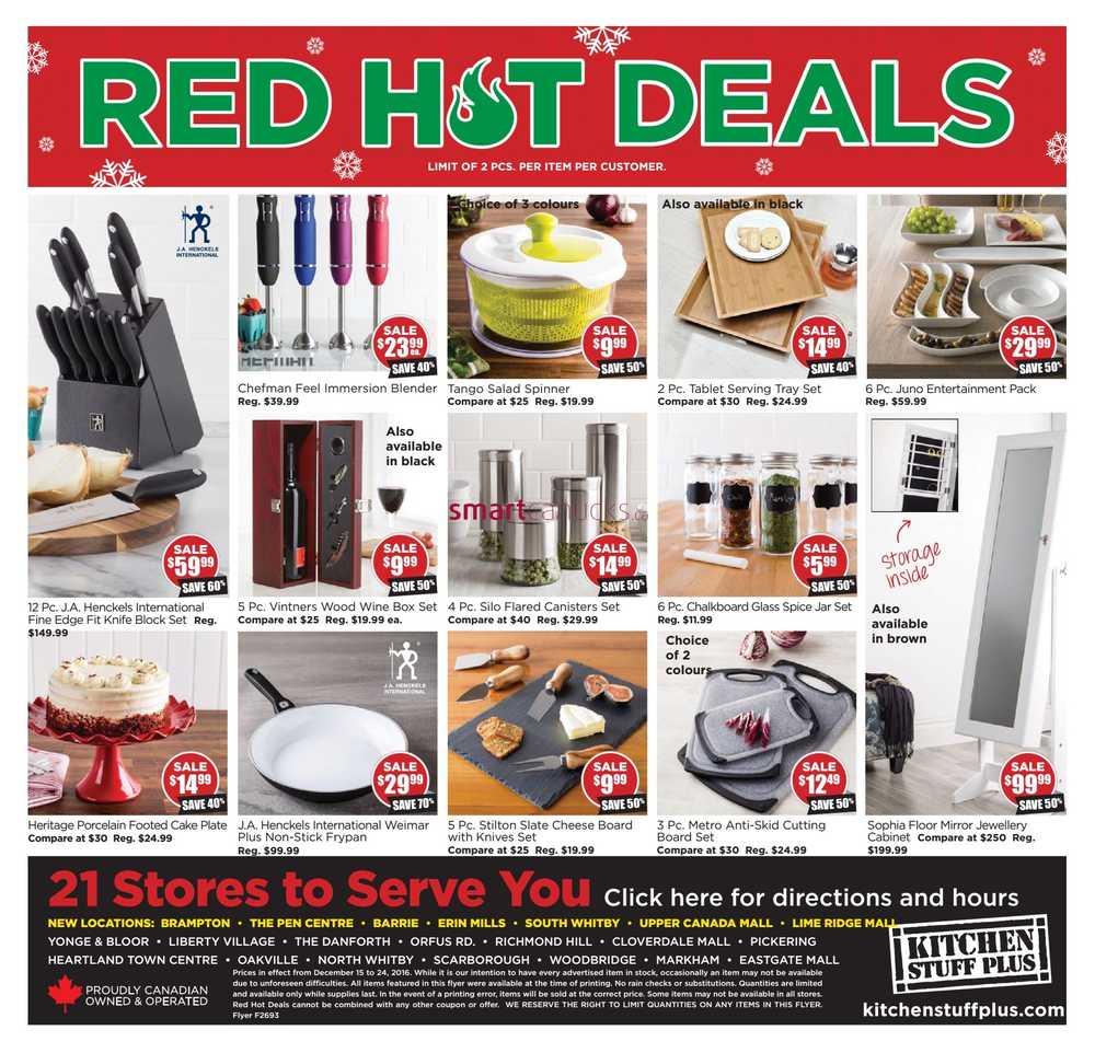 Kitchen stuff plus flyer december 15 to 24