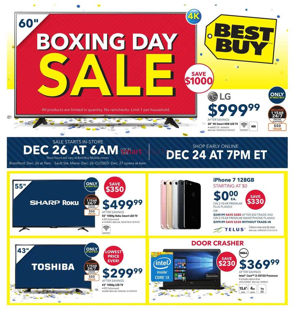 Boxing Day is undeniably one of the biggest shopping days of the year in Canada. The Boxing Day sales period runs from 26 December to 15 January.