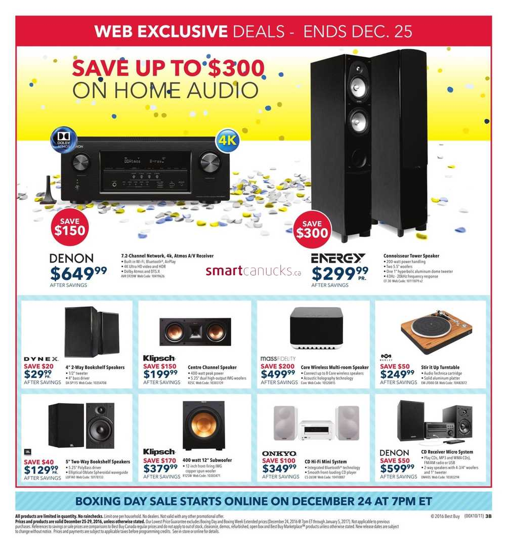 Best Buy Boxing Day Sale Flyer December 25 to 29, 2016