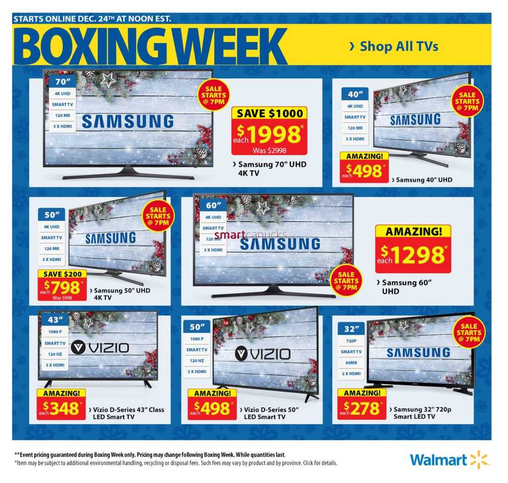 Walmart Canada Boxing Day Flyer (Boxing Week) December 26 - 31, 2016