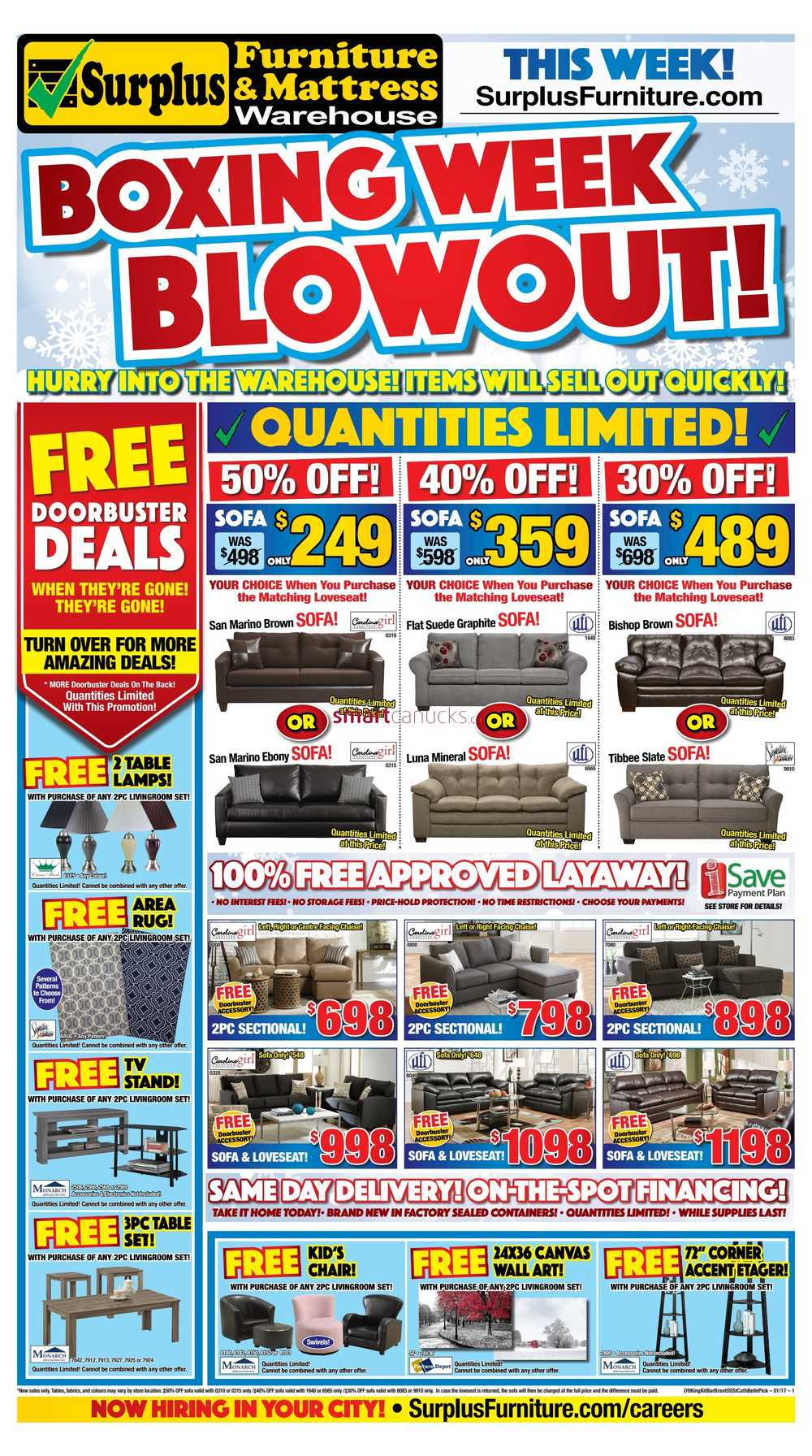 Surplus Furniture & Mattress Warehouse (Kitchener) Boxing Week ...
