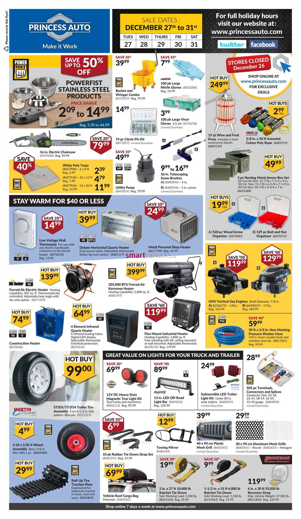 Princess Auto Boxing Week Sale Flyer December 27 To 31