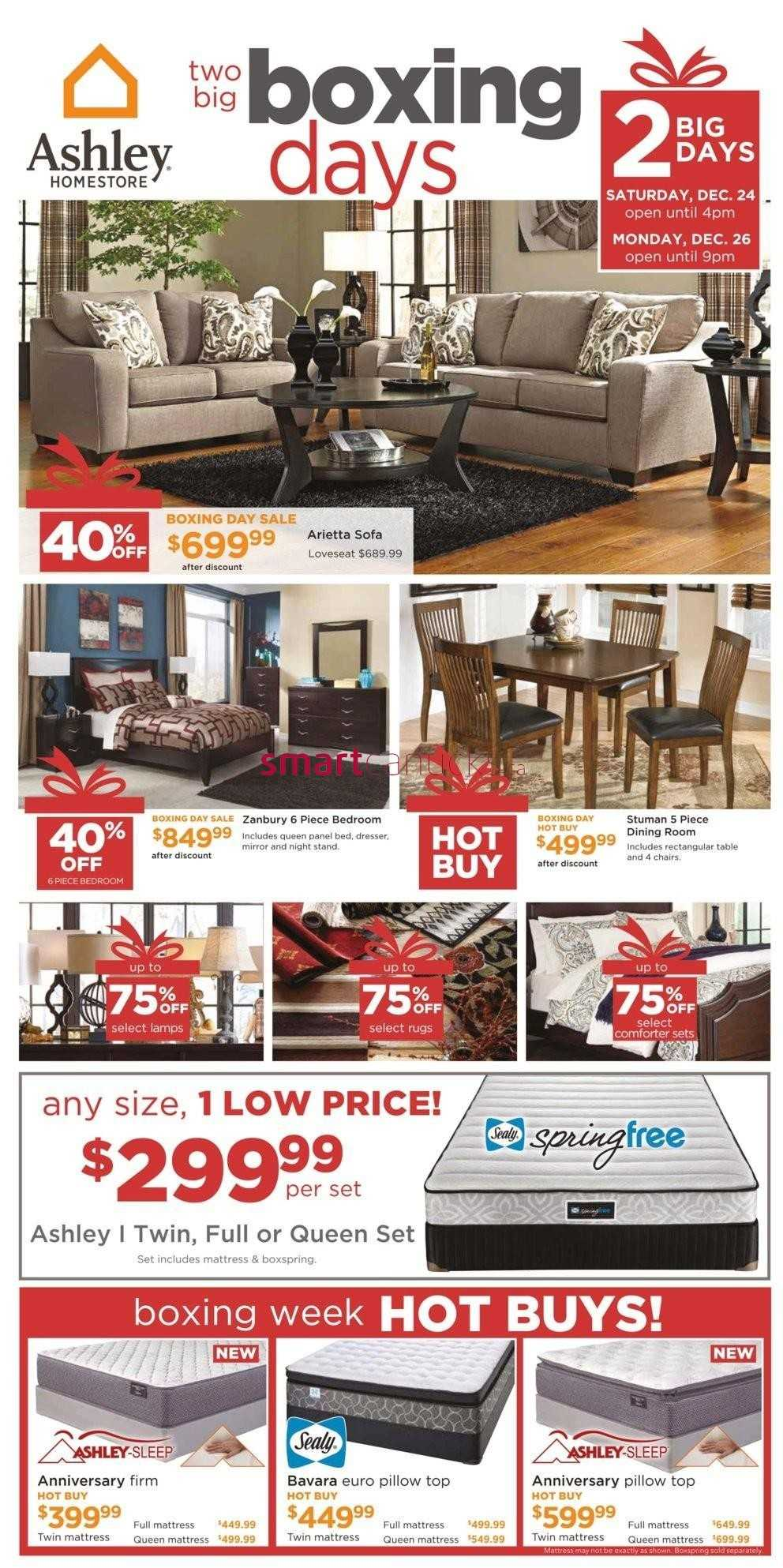 Ashley homestore on boxing day flyer december 24 26 for Home shop 24