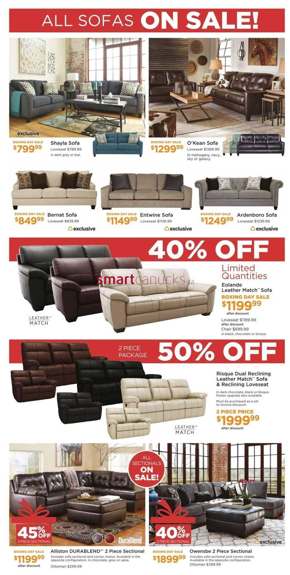 Ashley Homestore On Boxing Day Flyer December 24 26