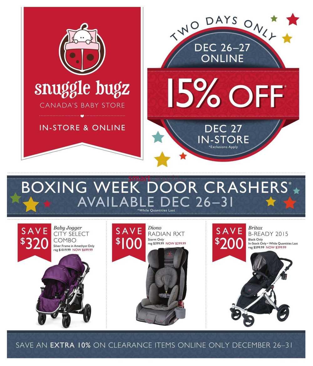 Snuggle Bugz Boxing Day Sale