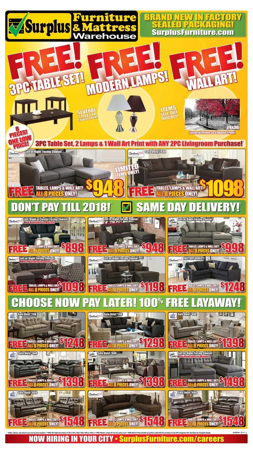 Surplus Furniture U0026 Mattress Warehouse (Corner Brook) Flyer January 3 To 23