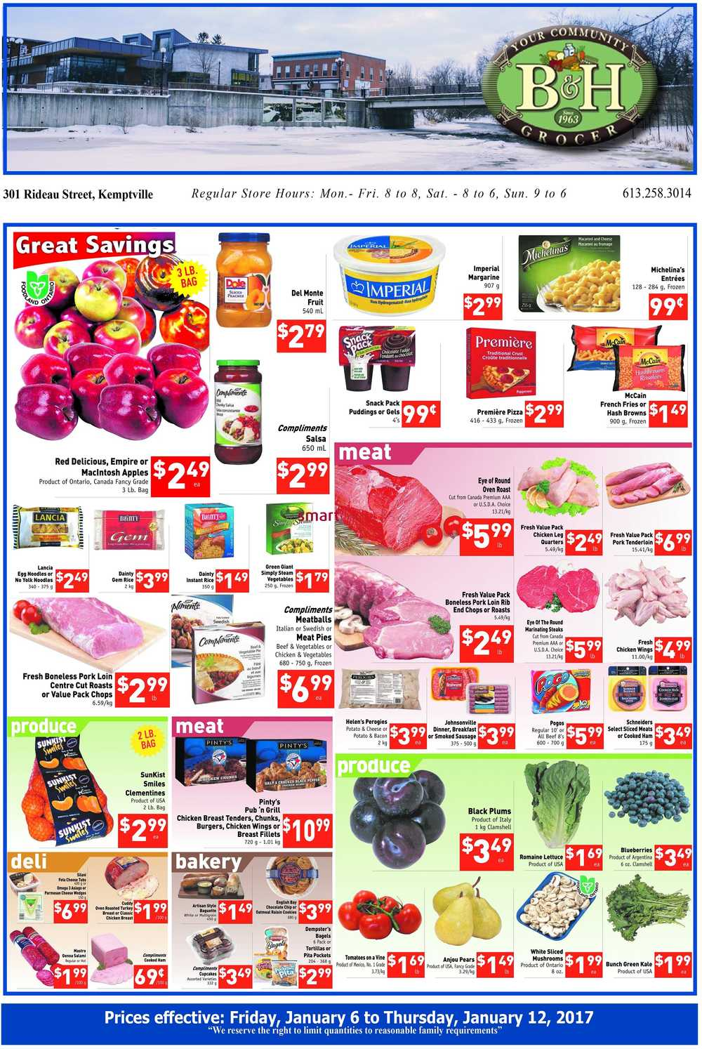 B H Your Community Grocer Flyer January 6 To 12