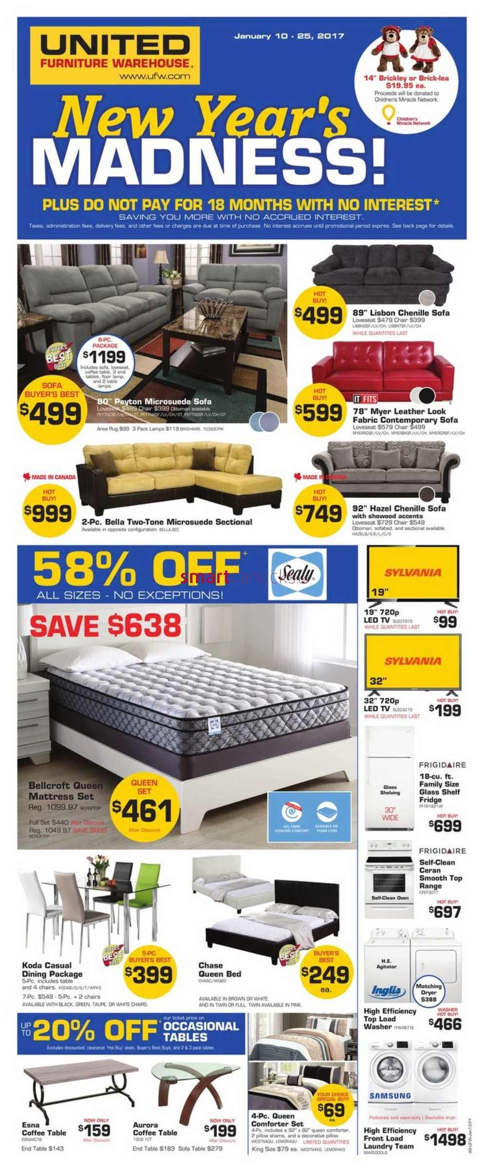 Furniture Warehouse Kitchener United Furniture Warehouse Canada Flyers