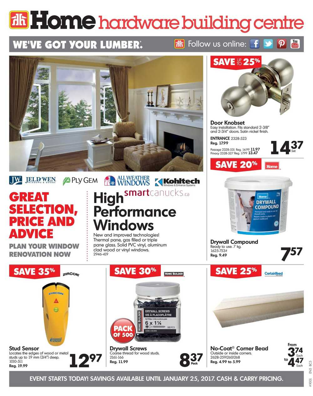 Home Hardware Building Centre Bc Flyer January 18 To 25