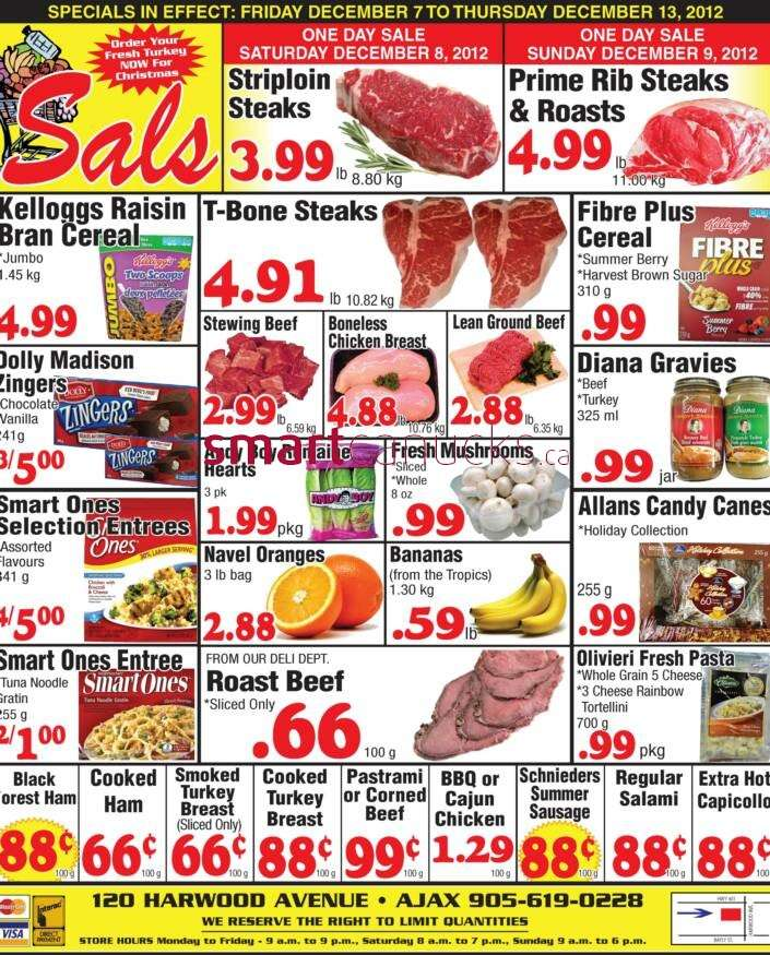 Sal's Grocery flyer Dec 7 to 13