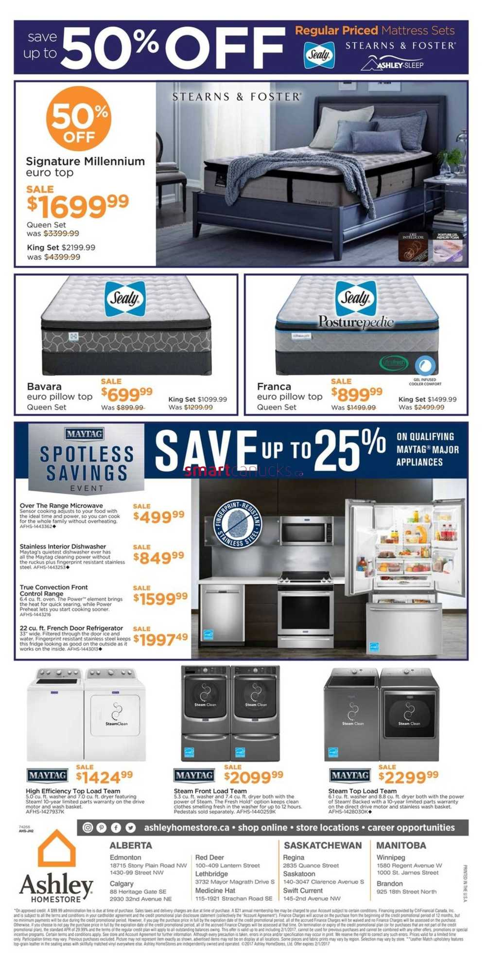 Ashley Homestore West Flyer January 26 To February 1