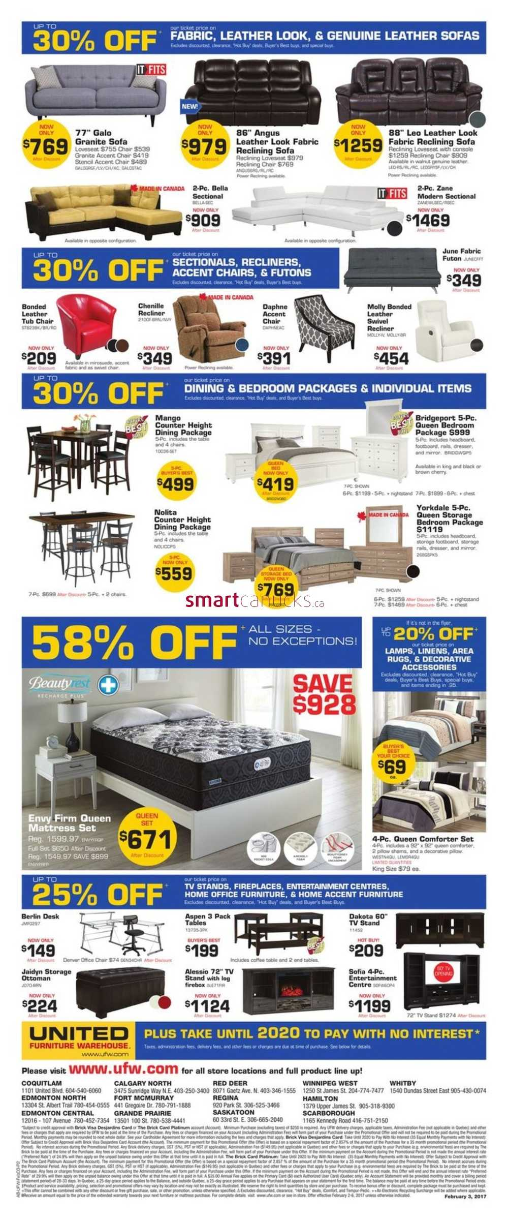 United Furniture Warehouse Flyer February 2 To 6