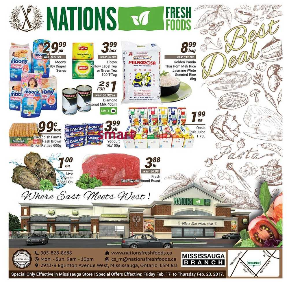 Foods Of All Nations Menu
